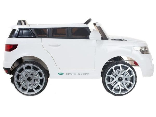Kids ride on jeep WHITE Range Sport SUV   12v battery powered sit and ride-in toy car